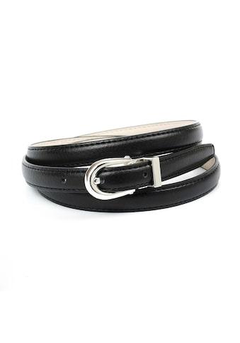 Anthoni Crown Ledergürtel, in schmaler Form mit ovaler Schließe kaufen