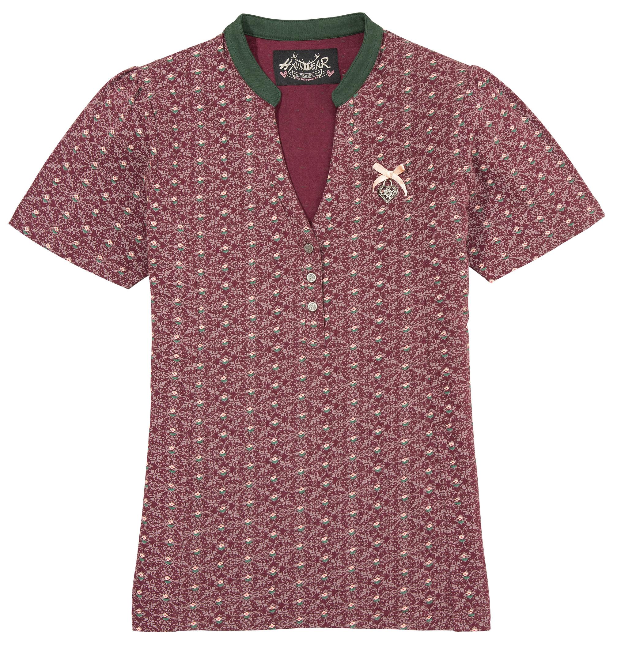 hangowear -  Trachtenshirt Agany, besonders elastisch mit V-Ausschnitt