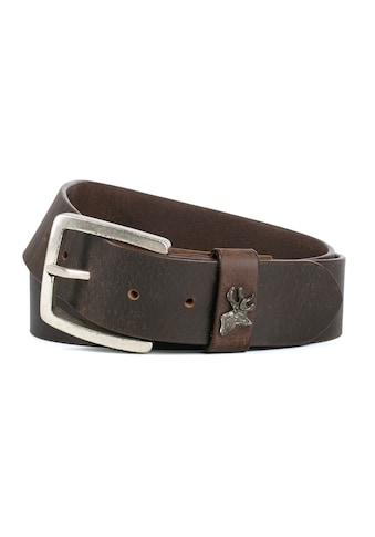 Der Trachtler Ledergürtel »8400«, mit trendigem Hirsch-Element kaufen