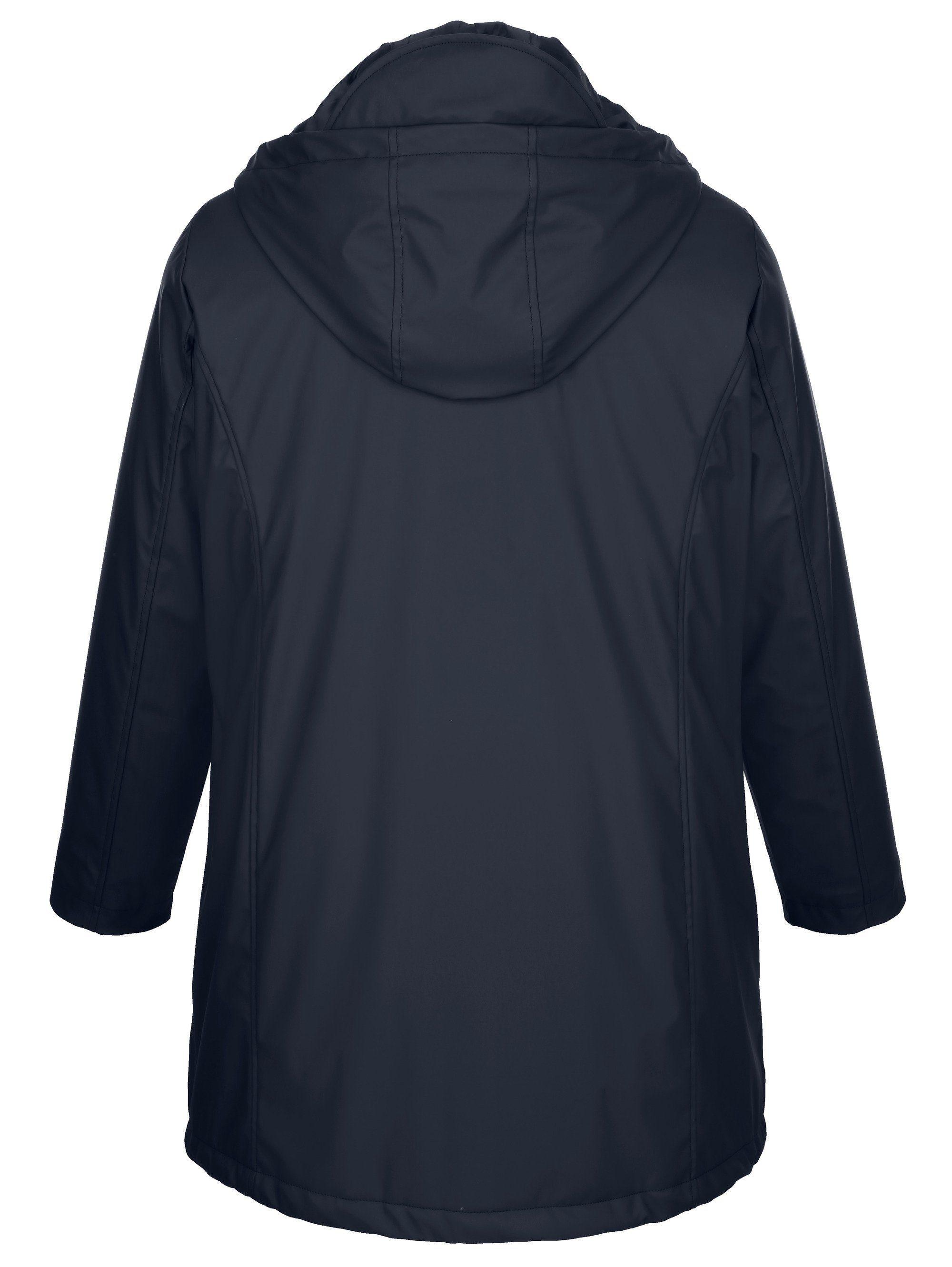 miamoda -  Regenjacke mit Umlegekragen und Kapuze