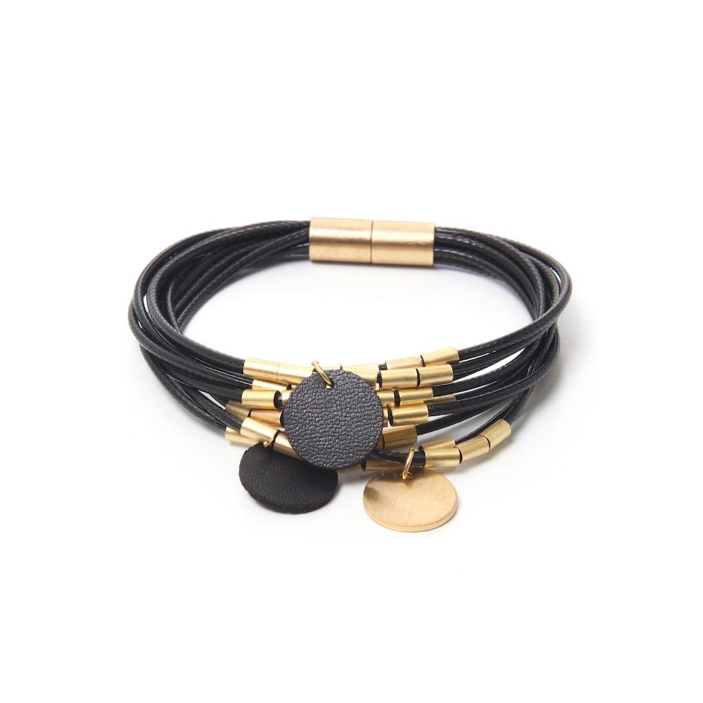 J.Jayz Armband »Scheiben, rund, bicolor«