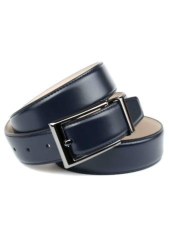 Anthoni Crown Ledergürtel, Eleganter Gürtel in dunkelblau kaufen