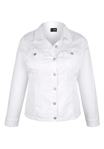 MIAMODA Jeansjacke mit Dekosteinen kaufen