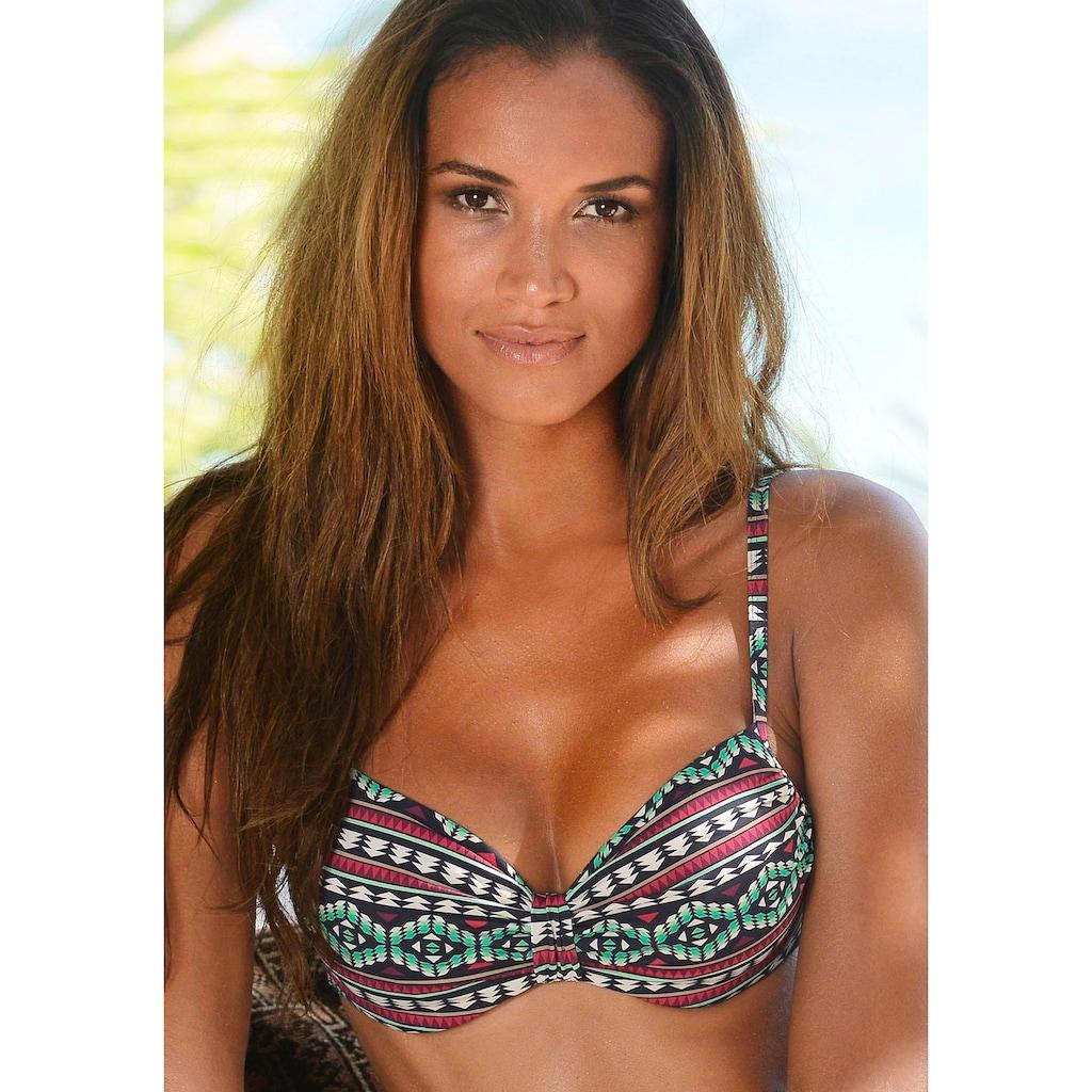 LASCANA Bügel-Bikini-Top »June«, mit Raffung