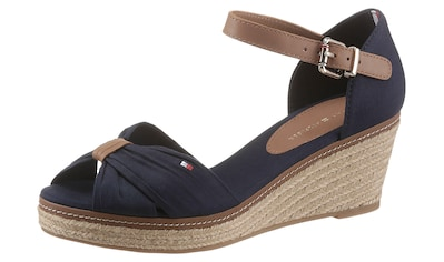 TOMMY HILFIGER Sandalette »ICONIC ELBA SANDAL«, mit Kontrastnaht kaufen