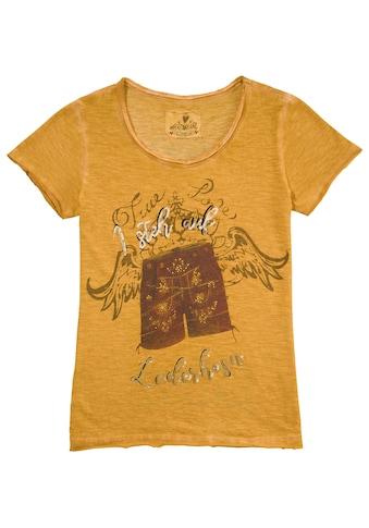 Hangowear Trachtenshirt, Kurzarm mit Aufdruck und Schriftzug kaufen