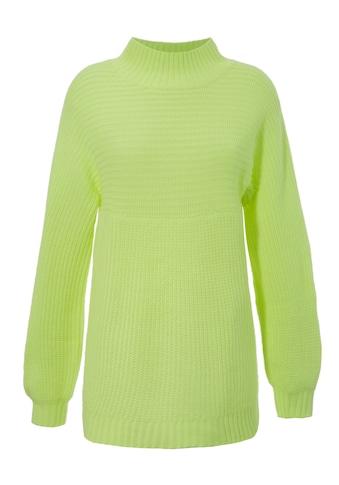 Aniston CASUAL Stehkragenpullover, mit quer gestricktem Oberteil - NEUE KOLLEKTION kaufen