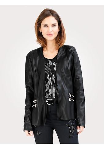 Mona Legerjacke in Leder - Optik kaufen
