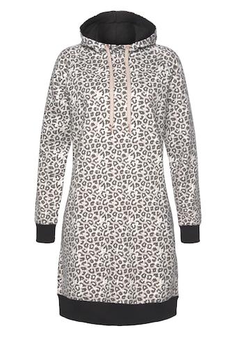 LASCANA Sweatkleid, mit Kapuze und Rippbündchen kaufen