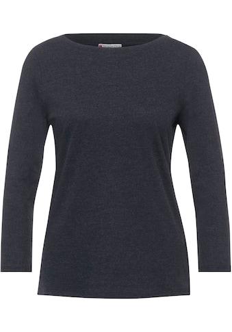 STREET ONE 3/4-Arm-Shirt, mit Melange Optik kaufen