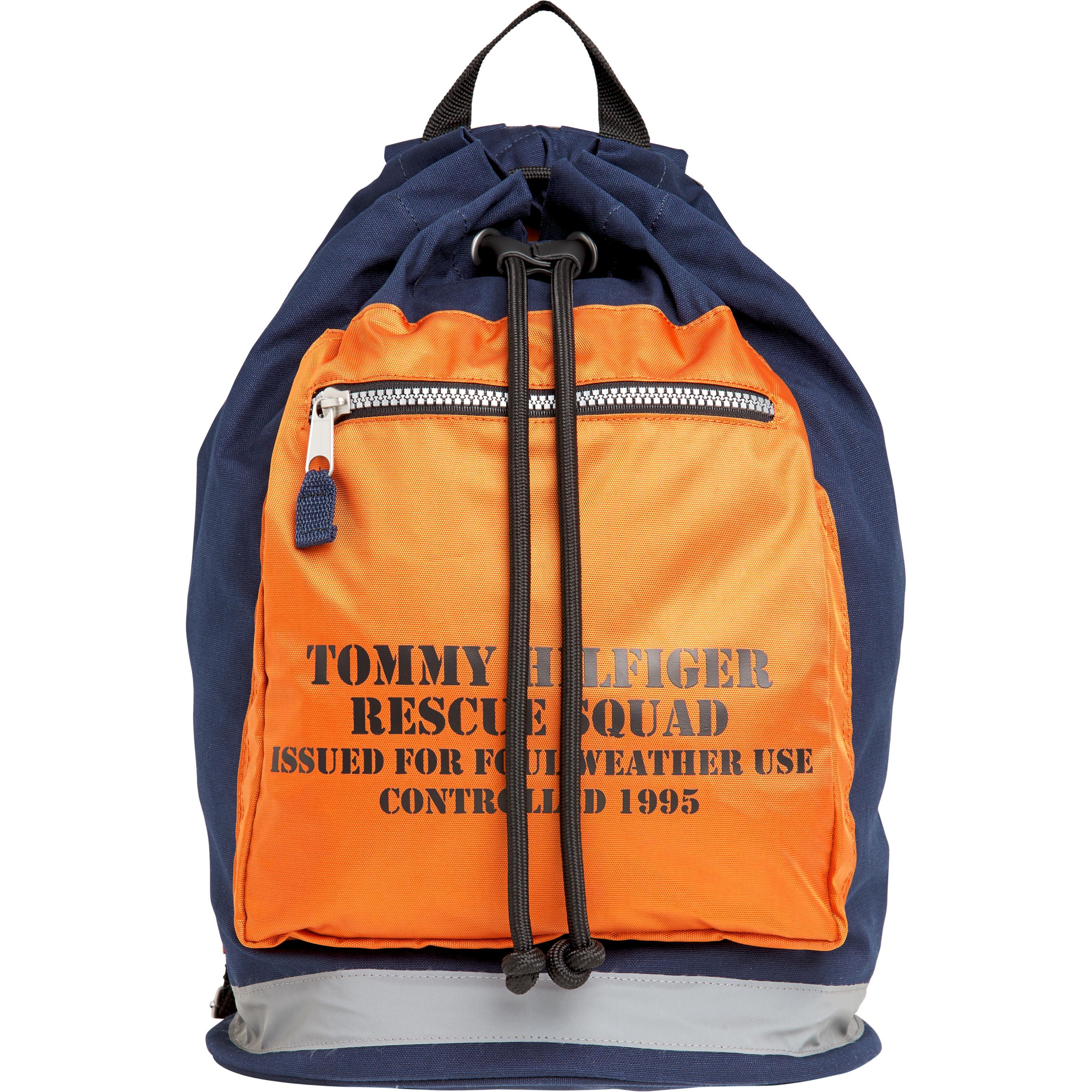 tommy jeans -  Cityrucksack TJM ARCHIVE DRAWSTRING BAG BLUE
