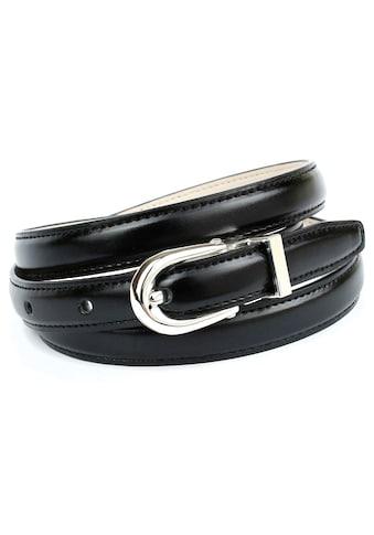 Anthoni Crown Ledergürtel, in schmaler Form mit Ton in Ton Steppung kaufen