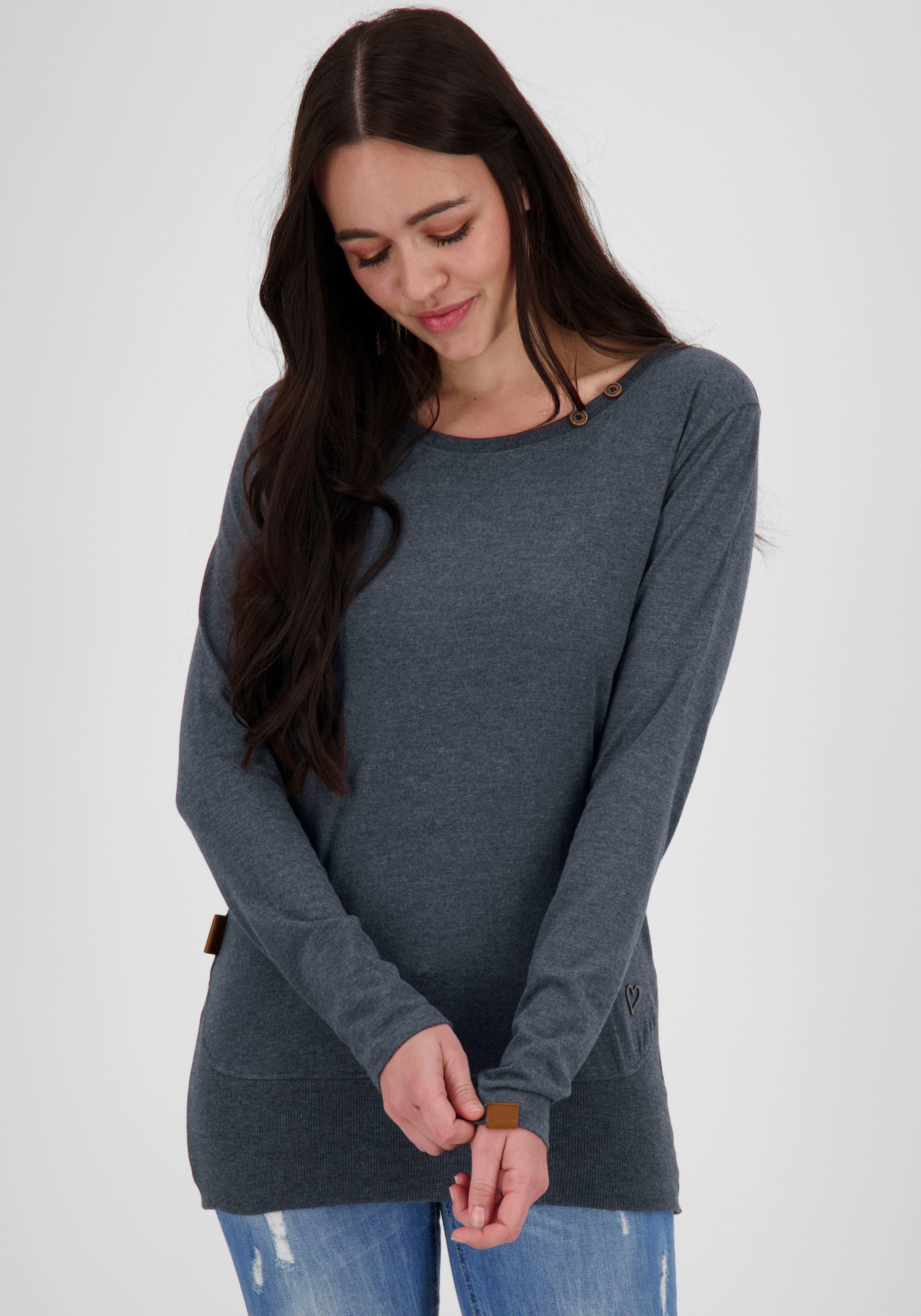alife & kickin -  T-Shirt CocoAK, Longsleeve mit tiefem Rundhalsausschnitt
