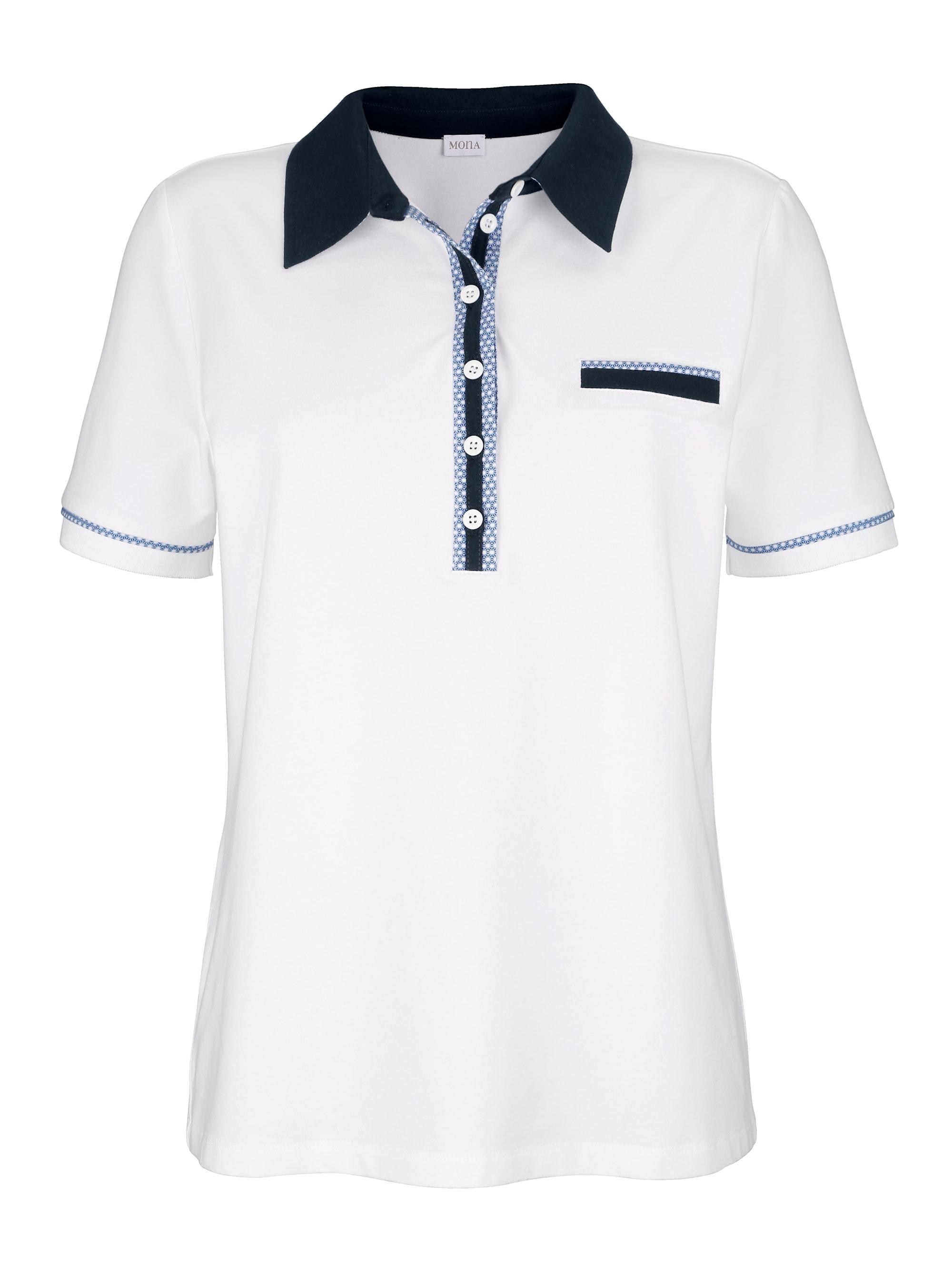 mona -  Poloshirt, mit dekorativer Polo-Knopfleiste