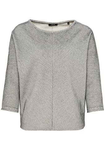 OPUS Sweatshirt »Glovan«, mit V-förmiger Struktur kaufen