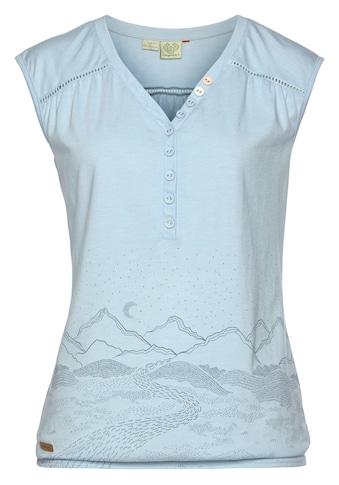 Ragwear Shirttop »SALTY B«, mit platziertem Berge-Landschaftsprint kaufen