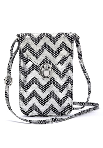 LASCANA Umhängetasche, Minibag, Handytasche zum Umhängen im modischen Bast Look kaufen