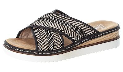 Rieker Pantolette, mit schönem Muster kaufen
