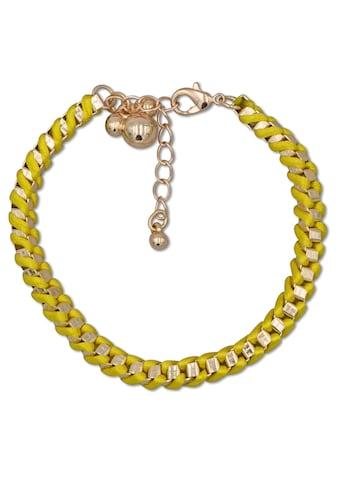 J.Jayz Armband »geflochten, vergoldet, Neonfarbe, gelb« kaufen