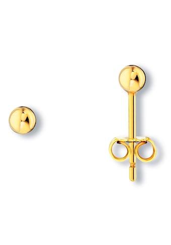 ONE ELEMENT Paar Ohrstecker »Ohrringe / Ohrstecker Kugel aus 333 Gelbgold« kaufen