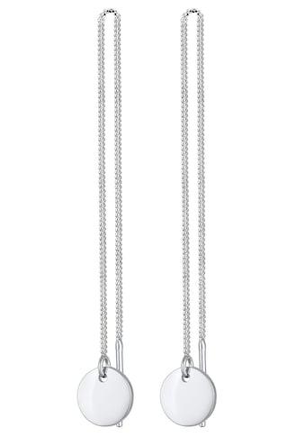 Elli Paar Ohrhänger »Ohrringe Ohhänger Plättchen Kreis Durchzieher 0303730320, 0303890320« kaufen