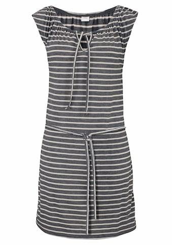 Venice Beach Jerseykleid, (mit Bindegürtel), und Streifenprint kaufen