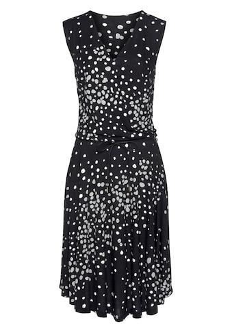 Vivance Jerseykleid, (mit Bindegürtel), mit Punktedruck kaufen