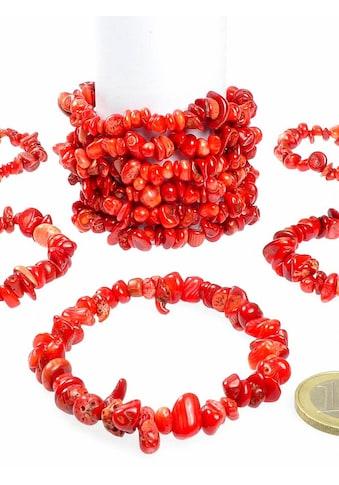 Adelia´s Armband »Damen Schmuck Edelstein Koralle Armband rot 19 cm« kaufen