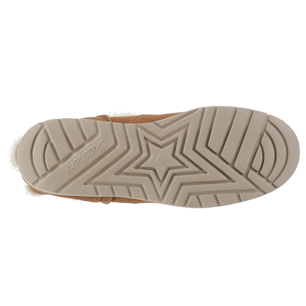 Skechers Winterboots »KEEPSAKES WEDGE - COZY PEAK«, mit dezenten Laser-Cut-Muster
