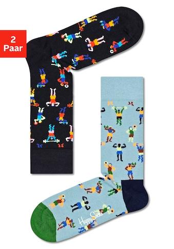 Happy Socks Socken »work it«, mit lustigen Sportmotiven kaufen