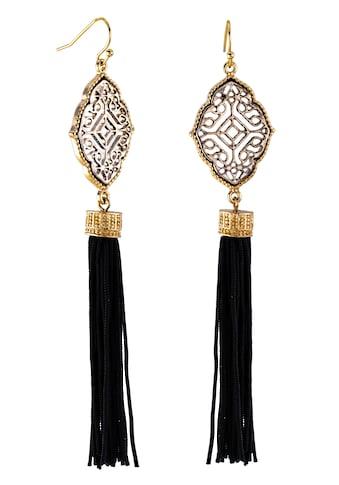 J.Jayz Paar Ohrhaken »Ornament mit Quasten, teilw. vergoldet« kaufen