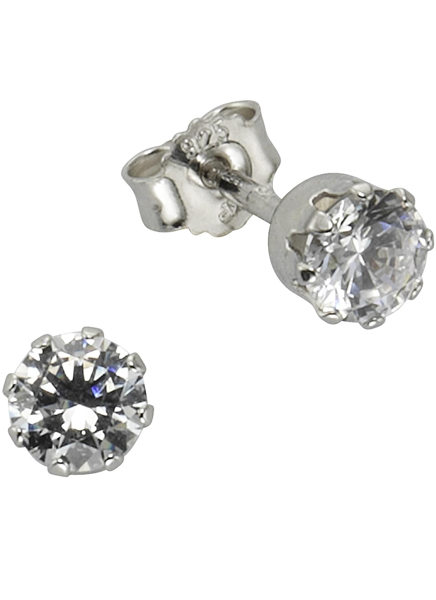 firetti paar ohrstecker solitr rhodiniert in glanzoptik Glitzernde Ohrringe im runden Design 8HtCE