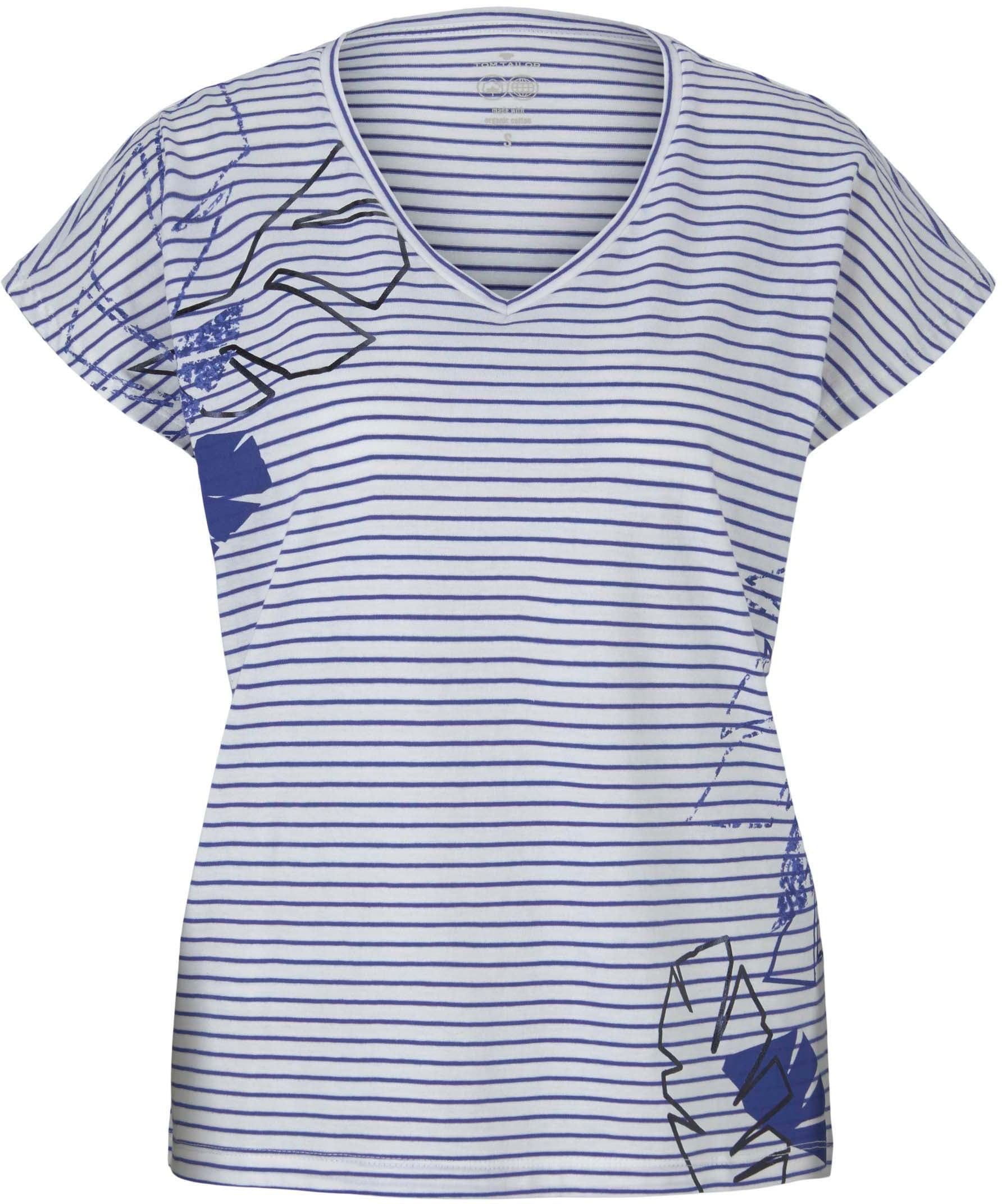 tom tailor -  V-Shirt, mit Print