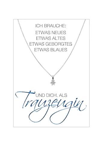 HERZ-KARTE Silberkette »Trauzeugin«, Ankerkette rhodiniert mit Solitär 925/-... kaufen