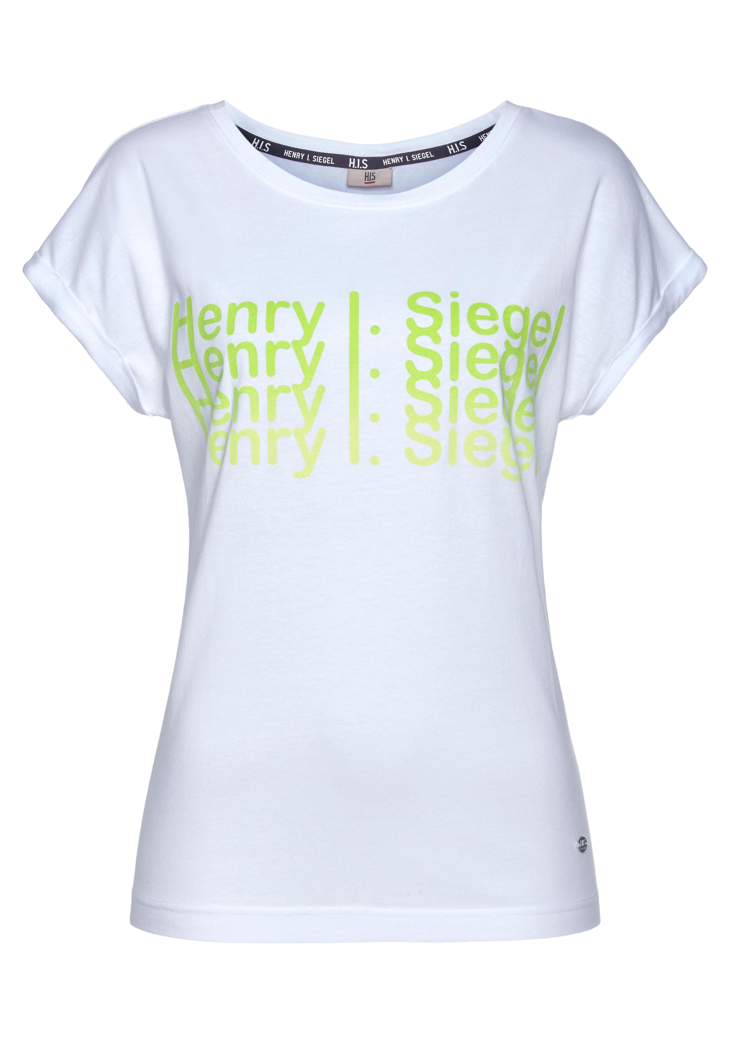 h.i.s -  Kurzarmshirt, mit Neon-Print von