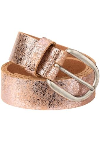 Tamaris Ledergürtel, im Metallic-Look kaufen