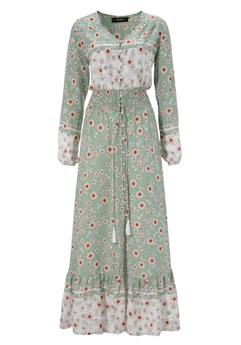 Aniston CASUAL Maxikleid, mit zarten Blumendruck und Patch-Optik - NEUE KOLLEKTION kaufen