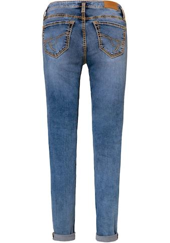 SOCCX Slim-fit-Jeans »KA:RA«, mit auffälligen Steppungen kaufen