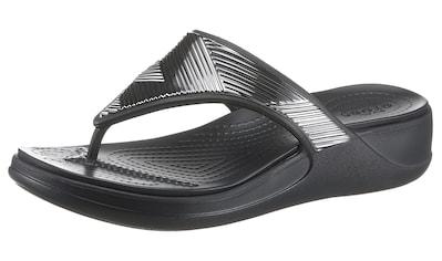 Crocs Badesandale »Monterey Metallic«, im Metallic Look kaufen