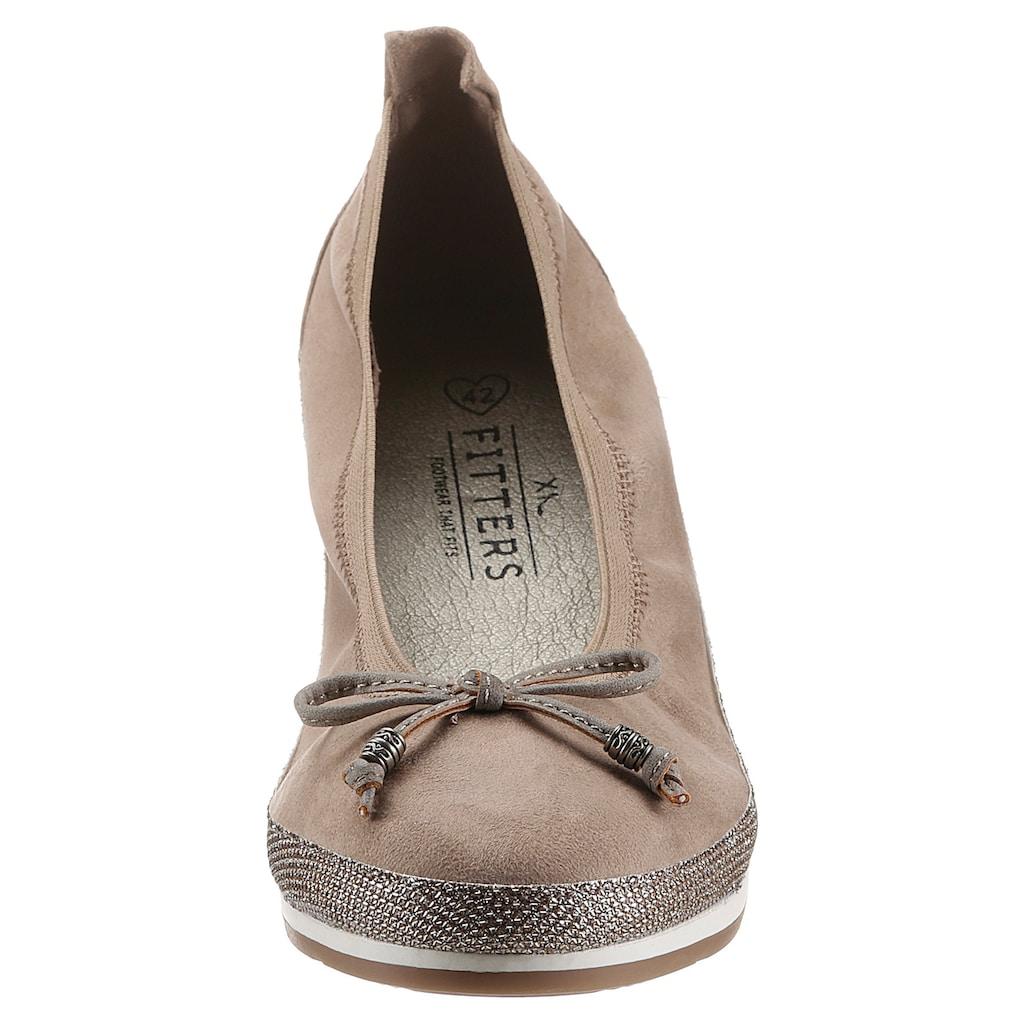 Fitters Footwear Ballerina »CELINE«, mit elastischem Schaftrand