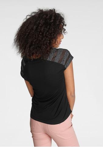 Melrose Shirtbluse, mit Glanzgarn und Mesh - NEUE KOLLEKTION kaufen