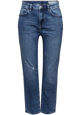 edc by Esprit Boyfriend-Jeans, in straighter Cropped-Form kaufen
