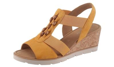 Gabor Sandalette, mit Schmuckelement aus Holz kaufen
