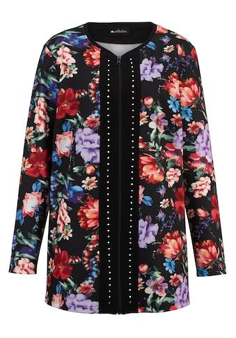 m. collection Jerseyblazer, im bezauberndem Blumendruck-Muster rundum kaufen