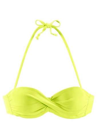 s.Oliver Beachwear Bandeau-Bikini-Top »Spain«, unifarben mit Wickeloptik kaufen