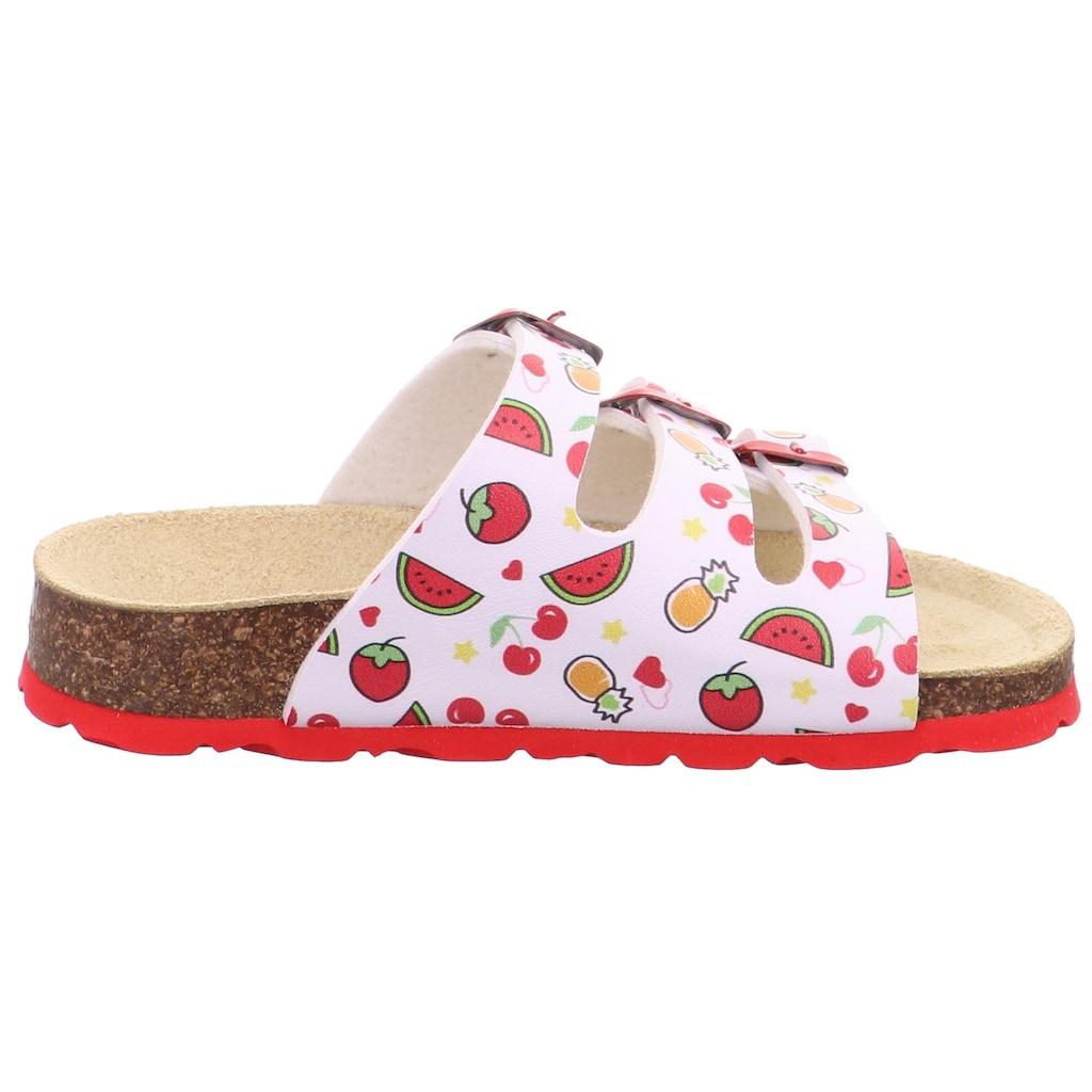 Superfit Pantolette »Fußbettpantolette«, mit allover Print