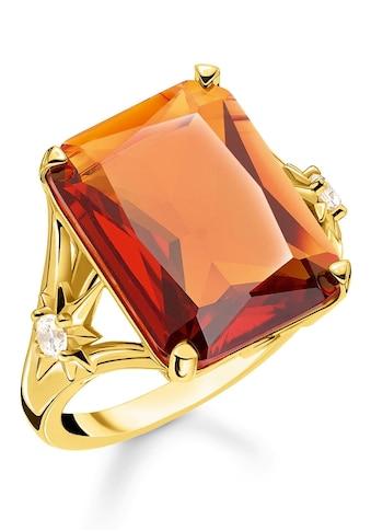THOMAS SABO Fingerring »Stein orange groß mit Stern, TR2261 - 971 - 8 - 52, 54, 56, 58, 60« kaufen