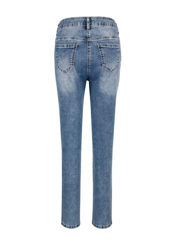 Mona 7/8-Jeans, mit dekorativen Ösen und Steinen kaufen