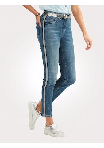 Mona Jeans mit Galonstreifen kaufen