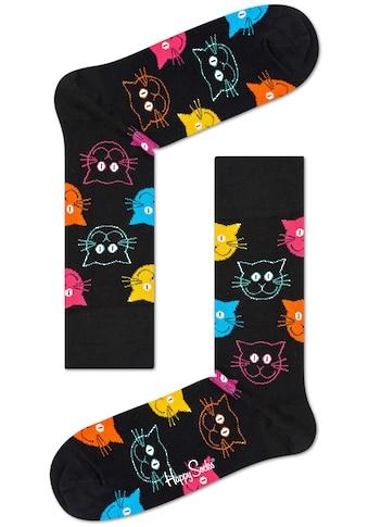 Happy Socks Socken »Cat«, mit bunten Katzengesichtern kaufen
